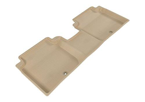 3D MAXpider Second Row Custom Fit Floor Mat for Select Hyundai Elantra Models – Kagu Rubber (Tan)