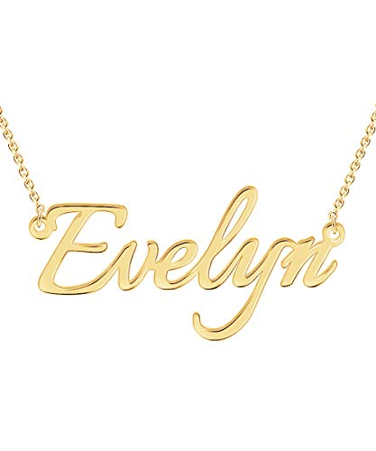 Custom4U Personalized Name Necklace Custom Made Pendant Jewelry Gift for ()