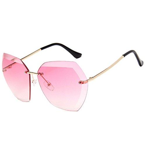 Meliya polarizadas de Oversized conducción sol sin de gafas anti Fashion de gafas morado marco UV sol montura rosa Unisex rPBxFanqr