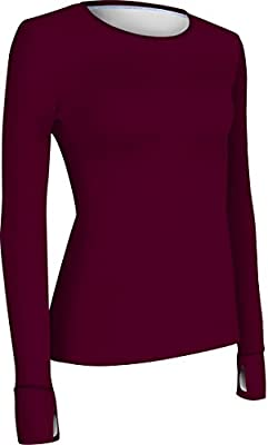 GL3008L Women's Athletic Fit Long Sleeve Running and Yoga Shirt with Thumb Holes