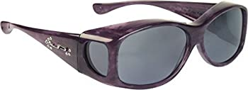 Fit Overs Sunglasses - The Glides Collection - Fits Over Circle - 128mm X 40mm - Purple Haze/polarized Gray Lenses