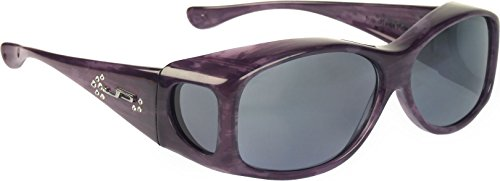 Fit Overs Sunglasses - The Glides Collection - Fits Over Circle - 128mm X 40mm - Purple Haze/polarized Gray - Sunglasses Glide