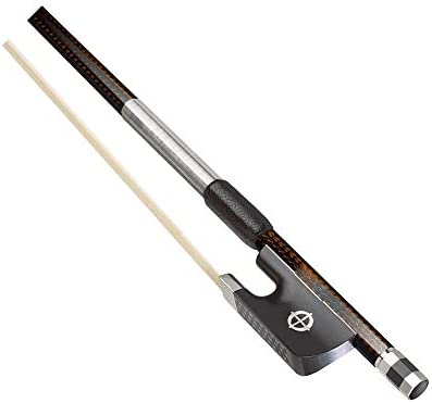 ヴァイオリン弓 楽器アクセサリーカーボンファイバーフィドルボウ4/4エボニーフロッグ プロのバイオリン弓 (Color : Brown, Size : 4/4)