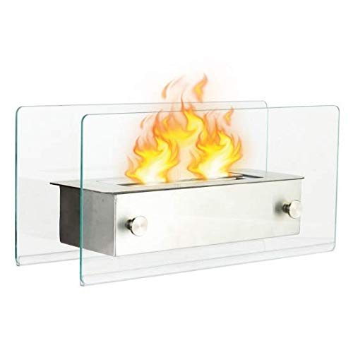 Fireplace Tabletop Portable Stainless Steel Ventless Outdoor Indoor by Sunil
