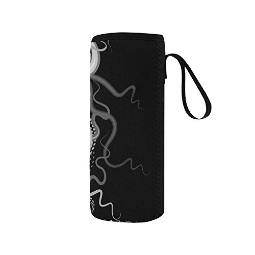 InterestPrint Octopus Hologram Ghost Neoprene Water Bottle Sleeve