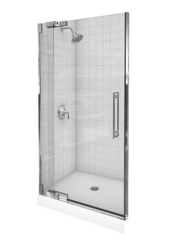 Kohler K-705714-L-SHP Purist Heavy Glass Pivot Shower Door, 36-1/4