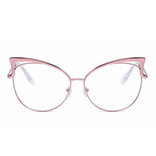 Lady Soleil de Lens Lunettes Pink Color Clear Frame Lens Clear Sakuldes Glasses Silver Frame ftaqn6