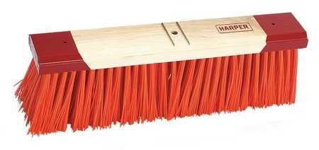 HARPER Orange Synthetic Push Broom Head