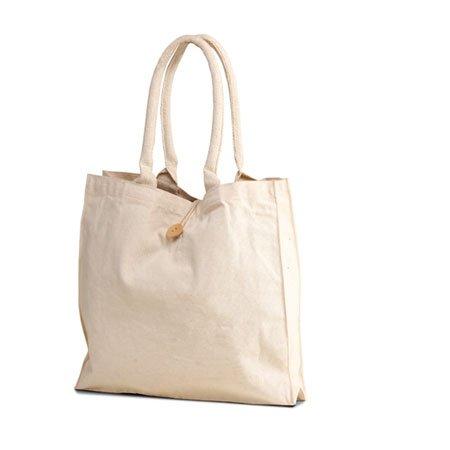 ab7a62814f Amazon.com | Natural 10 oz. Cotton Canvas Tote Bag buttoned closure ...
