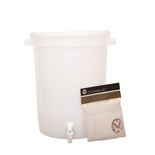 (CoffeeSock 5 Gallon ColdBrew Kit- The Original Reusable Organic Cotton Coffee Filter and Container)