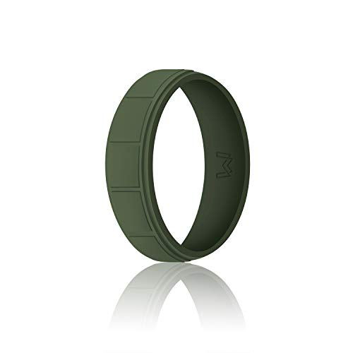 - WIGERLON Mens Silicone Wedding Ring &Rubber Wedding Bands Width 8.7mm Color Green Size 11