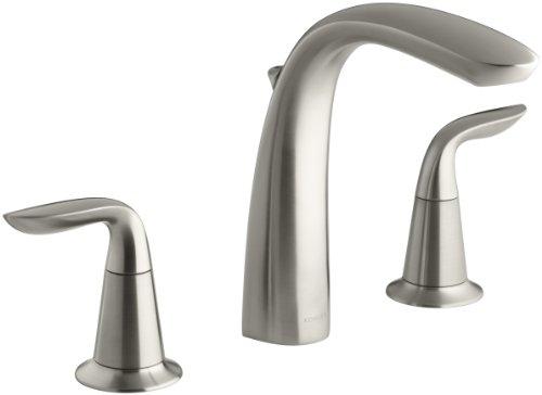 KOHLER K-T5324-4-BN Refinia Bath Faucet Trim with Diverter, Valve Not Included, Vibrant Brushed Nickel