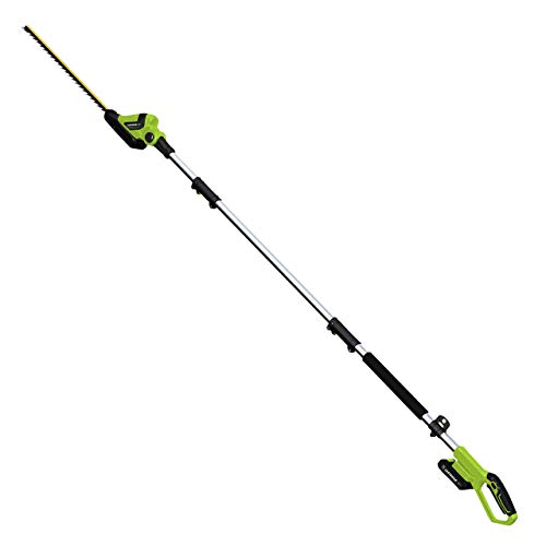 Earthwise LPHT12022 Volt 20-Inch Cordless Pole Hedge Trimmer, 2.0AH Battery & Fast Charger Included (Renewed)