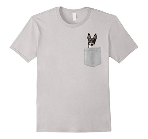 Mens Dog in Your Pocket Toy Fox Terrier t shirt shirt XL Silver