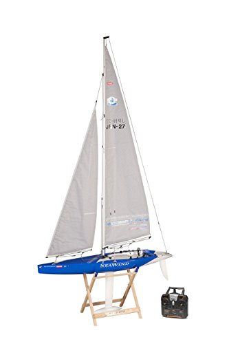 Radio Controlled Sailboat (Kyosho Seawind 1-Meter RC Racing Yacht Vehicle)