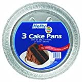 "Hefty Round Foil Cake Pan Dw Safe, Round 1.3125"""