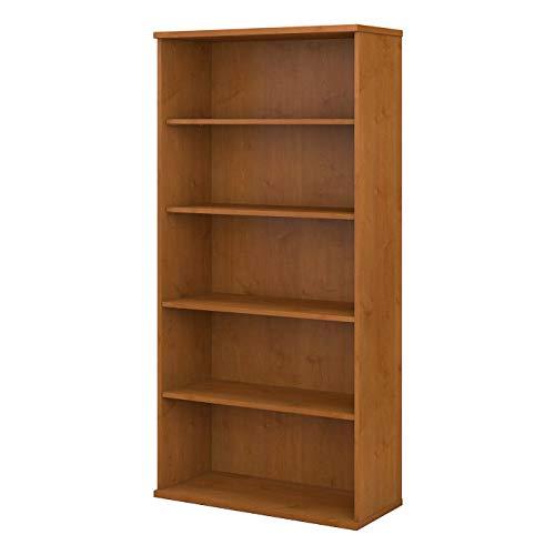 Bush Business Furniture Series C 36W 5 Shelf Bookcase - Natural Cherry 36W X 15D X 73H Ergonomichome American Made TAA Compliant (American Bookcase Cherry)