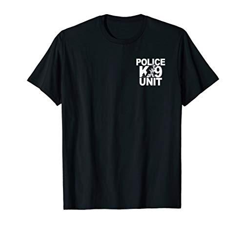 Police K-9 Unit Shirt German Shepherd Front & Back Print