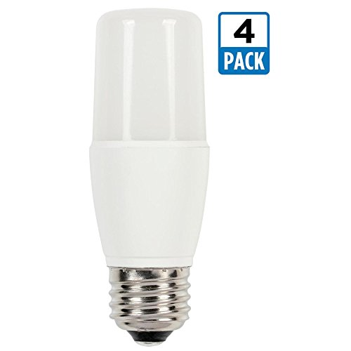 (Westinghouse 3319920 60-Watt Equivalent T7 Bright White LED Light Bulb with Medium Base (4-Pack), 0, 4 Piece)
