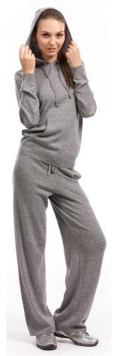 Lounge Pants - 100% Cashmere - by Citizen Cashmere (Large, Light Grey) by Citizen Cashmere (Image #2)