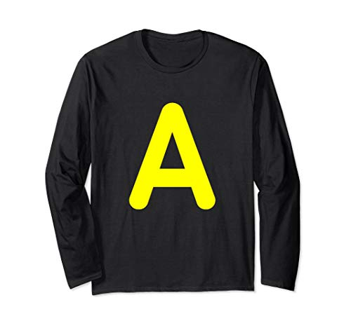 Chipmunk Halloween costume shirt for Alvins, Letter A shirt