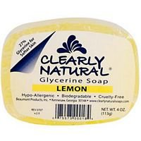 Clearly Natural Bar Soap Glycerine Lemon 4 Oz