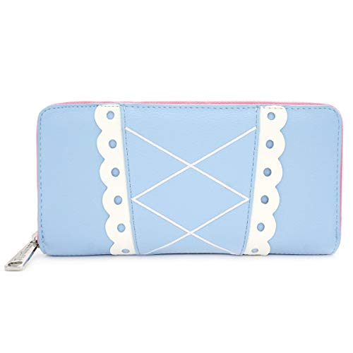 Loungefly x Disney Pixar Toy Story Bo Peep Cosplay Zip Around Wallet (Blue, One Size) ()