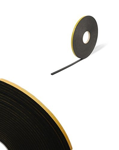 double sided foam tape black 1mm x 10mm x 50m security glazing