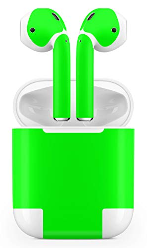 (Vinyl Decal Sticker Protective Skin Compatible Apple Airpods Gloss Lime Green)