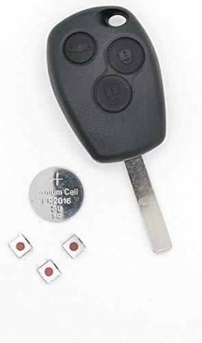 Renault Clio III Master Kangoo II Modus 3 Boutons Réparation Clé Télécommande Rénové Kit