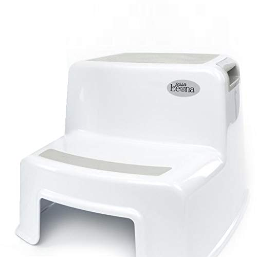 Dual Height Step Stool for Kids | Toddler's Stool for Potty Training and Use in The Bathroom or Kitchen | Versatile Two-Step Design for Growing Children | Soft-Grip Steps Provide Comfort and Safety