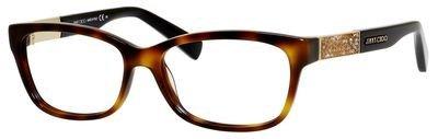 JIMMY CHOO Eyeglasses 110 06VL Havana Black - Havana Choo Jimmy Glasses