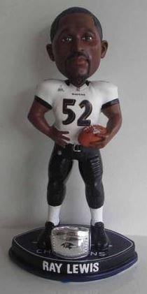 Ray Lewis Baltimore Ravens Superbowl Champions Bobblehead (Ray Lewis Figurine)