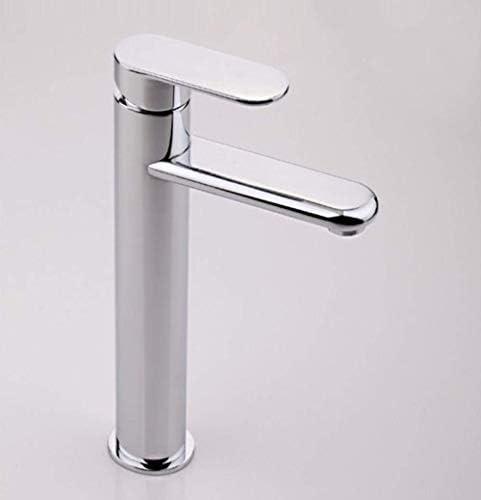 HXC-HXC バスルームのシンクは、スロット付き浴室の洗面台のシンクホットコールドタップミキサー流域の真鍮シンクミキサータップ非震とう浴室の蛇口背の高い蛇口の上蛇口流域の蛇口をタップ 蛇口