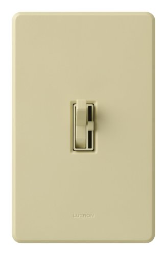 Lutron TG-603PNLH-IV Toggler 600W 3-Way Preset Dimmer with Nightlight Ivory