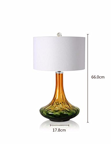 CJSHVR-Continental Crystal Glass Lamps Villa Hotel Lobby Living Room And A Study Room Lamp American Fabrics Bedside Lamp - House Online The Glass Watch
