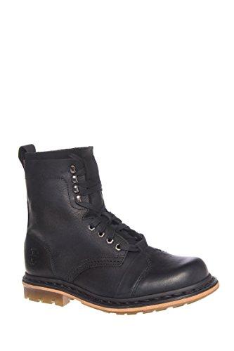 Dr. Martens Men's Pier 9 Tie Boot Black Wyoming/Suede 9 UK