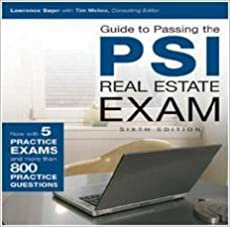Guide to Passing the PSI Real Estate Exam , CD-ROM V6.0
