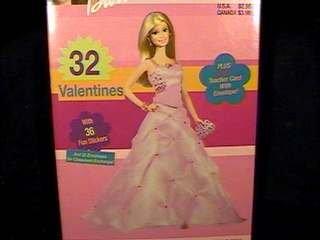 Price comparison product image VBX1401 Hallmark Barbie Valentines 32 count plus 36 stickers