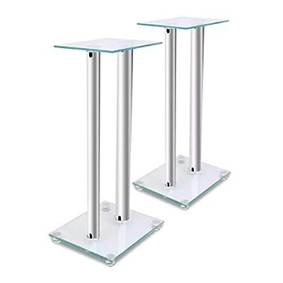 HomyDelight Speaker Stand & Mount, 2 pcs Glass Speaker Stand