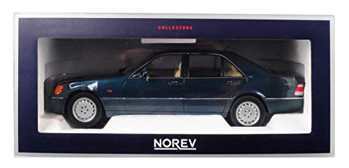 Norev 1997 Mercedes Benz S600 V12 Metallic Green 1/18 Diecast Model Car - Diecast Cars Mercedes
