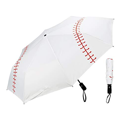 Ballpark Elite Baseball Umbrella - Portable with Automatic Open Close - Collapsible Travel Sports Umbrella