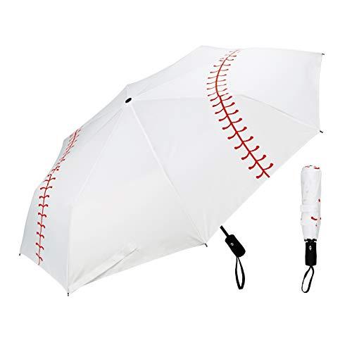 Ballpark Elite Baseball Umbrella - Portable with Automatic Open Close - Collapsible Travel Sports Umbrella