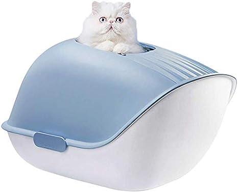 Inodoro para Gatos Arenero Gatos Portatil Cubierto Aseo Gato ...