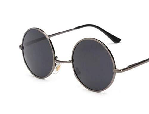 soleil UV400 rondes conduisant des rond protection de femmes voyager des Huyizhi hommes Cool des de de de lunettes Grey Lunettes style cadre IwUqn0Ot