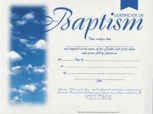 Certificate - Baptism (6 Pack)