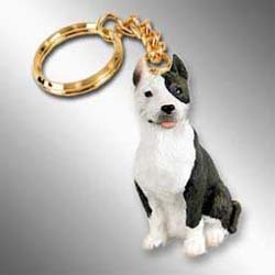 Pit Bull Terrier, Brindle Tiny Ones Dog Keychains (2 1/2 in)