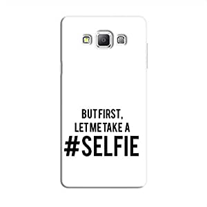 Cover it up Selfie First Samsung Galaxy A8 Hard Case - White