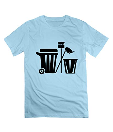 tanhanjiang Cleaning Sanitary Tools Tee for Men M SkyBlue