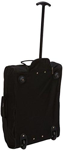 31t4w9woAXL - 5 Cities The Valencia Collection Juego de maletas TB830 / HD602 Black, 55 cm, 42 L, Negro